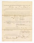 1886 May 7: Voucher, to Isaac Thompson, witness; includes cost of service as witness; S.A. Williams, deputy clerk; Stephen Wheeler, clerk; A.S. Vandeventer, chief deputy; John Carroll, U.S. marshal; Charles Nemguest
