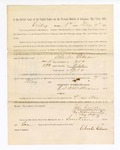 1886 May 7: Voucher, to Charles Gibson, witness; includes cost of service as witness; S.A. Williams, deputy clerk; Stephen Wheeler, clerk; A.S. Vandeventer, chief deputy; John Carroll, U.S. marshal; Charles Gibson