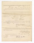 1886 May 7: Voucher, to James Duncan, witness; includes cost of service as witness; S.A. Williams, deputy clerk; Stephen Wheeler, clerk; A.S. Vandeventer, chief deputy; John Carroll, U.S. marshal