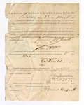 1886 May 8: Voucher, to Thomas McGrath, witness; includes cost of service as witness; S.A. Williams, deputy clerk; Stephen Wheeler, clerk; A.S. Vandeventer, chief deputy; John Carroll, U.S. marshal