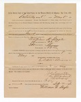 1886 September 2: Voucher, to William H. Seagle, witness; includes cost of service as witness; S.A. Williams, deputy clerk; Stephen Wheeler, clerk; A.S. Vandeventer, chief deputy; John Carroll, U.S. marshal