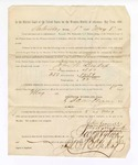 1886 May 8: Voucher, to John W. Bishop, witness; includes cost of service as witness; S.A. Williams, deputy clerk; Stephen Wheeler, clerk; A.S. Vandeventer, chief deputy; John Carroll, U.S. marshal