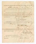 1886 May 8: Voucher, to Minnie Chouteau, witness; includes cost of service as witness; S.A. Williams, deputy clerk; Stephen Wheeler, clerk; A.S. Vandeventer, chief deputy; John Carroll, U.S. marshal