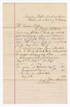1886 May 9: Voucher, U.S. v. J.R. Smith, robbing U.S. mail; Stephen Bilhenman, witness; John Carroll, U.S. marshal; handwritten voucher includes cost of expenses incurred as witness; Stephen Wheeler, clerk; S.A. Williams, deputy clerk; A.S. Vandervent, chief deputy