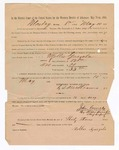 1886 May 10: Voucher, to Mollie Gueyala, witness; includes cost of service as witness; S.A. Williams, deputy clerk; Stephen Wheeler, clerk; A.S. Vandeventer, chief deputy; John Carroll, U.S. marshal