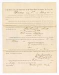 1886 May 10: Voucher, to Washington Dick, witness; includes cost of service as witness; S.A. Williams, deputy clerk; Stephen Wheeler, clerk; A.S. Vandeventer, chief deputy; John Carroll, U.S. marshal