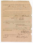 1886 May 11: Voucher, to William R. Hughes, witness; includes cost of service as witness; S.A. Williams, deputy clerk; Stephen Wheeler, clerk; A.S. Vandeventer, chief deputy; John Carroll, U.S. marshal