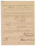 1886 May 11: Voucher, to Michael Garland, witness; includes cost of service as witness; S.A. Williams, deputy clerk; Stephen Wheeler, clerk; A.S. Vandeventer, chief deputy; John Carroll, U.S. marshal