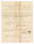 1886 May 14: Voucher, to Kate Edwards, witness; includes cost of service as witness; S.A. Williams, deputy clerk; Stephen Wheeler, clerk; A.S. Vandeventer, chief deputy; John Carroll, U.S. marshal; Max A. Mayer, witness of signatures