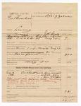 1886 May 29: Voucher, U.S. v. George Brashear, larceny; Henry Walton, Dick Ally, John Walton, witnesses; J.R. Cole, deputy marshal; James Brizzolara, commissioner