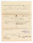 1886 May 17: Voucher, to Samuel Threldkeld, witness; includes cost of service as witness; Stephen Wheeler, clerk; A.S. Vandeventer, chief deputy; John Carroll, U.S. marshal; A. Dreyfus, witness of signature