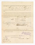 1886 May 17: Voucher, to Cornelius Evans, witness; includes cost of service as witness; Stephen Wheeler, clerk; A.S. Vandeventer, chief deputy; John Carroll, U.S. marshal; Charles Bailey, witness of signatures