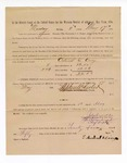 1886 May 17: Voucher, to Edmond S. Carey, witness; includes cost of service as witness; Stephen Wheeler, clerk; A.S. Vandeventer, chief deputy; John Carroll, U.S. marshal