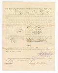 1886 May 17: Voucher, to Samuel E. Miller, witness; includes cost of service as witness; Stephen Wheeler, clerk; A.S. Vandeventer, chief deputy; John Carroll, U.S. marshal