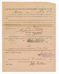 1886 May 17: Voucher, to John Williams, witness; includes cost of service as witness; Stephen Wheeler, clerk; A.S. Vandeventer, chief deputy; John Carroll, U.S. marshal