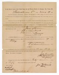 1886 May 19: Voucher, to Jose Brown, witness; includes cost of service as witness; S.A. Williams, deputy clerk; Stephen Wheeler, clerk; A.S. Vandeventer, chief deputy; John Carroll, U.S. marshal; A. Dreyfus, witness of signature