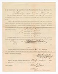 1886 May 20: Voucher, to Robert Davis, witness; includes cost of service as witness; S.A. Williams, deputy clerk; Stephen Wheeler, clerk; A.S. Vandeventer, chief deputy; John Carroll, U.S. marshal; Max A. Mayer, witness of signatures