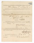 1886 May 20: Voucher, to H. Beauford Armistead, witness; includes cost of service as witness; S.A. Williams, deputy clerk; Stephen Wheeler, clerk; A.S. Vandeventer, chief deputy; John Carroll, U.S. marshal