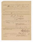 1886 May 21: Voucher, to Eli E. Mitchell, witness; includes cost of service as witness; S.A. Williams, deputy clerk; Stephen Wheeler, clerk; A.S. Vandeventer, chief deputy; John Carroll, U.S. marshal