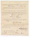 1886 May 21: Voucher, to William Smith, witness; includes cost of service as witness; S.A. Williams, deputy clerk; Stephen Wheeler, clerk; A.S. Vandeventer, chief deputy; John Carroll, U.S. marshal