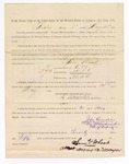 1886 May 21: Voucher, to Sam Wheat, witness; includes cost of service as witness; S.A. Williams, deputy clerk; Stephen Wheeler, clerk; A.S. Vandeventer, chief deputy; John Carroll, U.S. marshal; Max A. Mayer, witness of signature