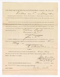 1886 May 21: Voucher, to Eveline Smith, witness; includes cost of service as witness; S.A. Williams, deputy clerk; Stephen Wheeler, clerk; A.S. Vandeventer, chief deputy; John Carroll, U.S. marshal