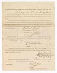 1886 May 21: Voucher, to Robert Hill, witness; includes cost of service as witness; S.A. Williams, deputy clerk; Stephen Wheeler, clerk; A.S. Vandeventer, chief deputy; John Carroll, U.S. marshal; Max A. Mayer, witness of signature