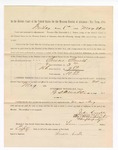 1886 May 21: Voucher, to Susan Smith, witness; includes cost of service as witness; S.A. Williams, deputy clerk; Stephen Wheeler, clerk; A.S. Vandeventer, chief deputy; John Carroll, U.S. marshal