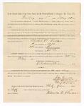 1886 May 21: Voucher, to Nichols C. Hullar, witness; includes cost of service as witness; S.A. Williams, deputy clerk; Stephen Wheeler, clerk; A.S. Vandeventer, chief deputy; John Carroll, U.S. marshal