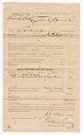 1886 June 3: Voucher, U.S. v. Frank Coal, larceny; includes cost of subpoena for witness; Jacob Lewis, witness; J.R. Cole, deputy marshal; Stephen Wheeler, clerk; S.A. Williams, deputy clerk