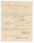 1886 May 22: Voucher, to Nicholas T. Wax, witness; includes cost of service as witness; S.A. Williams, deputy clerk; Stephen Wheeler, clerk; A.S. Vandeventer, chief deputy; John Carroll, U.S. marshal