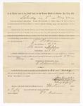 1886 May 22: Voucher, to William Rodman, witness; includes cost of service as witness; S.A. Williams, deputy clerk; Stephen Wheeler, clerk; A.S. Vandeventer, chief deputy; John Carroll, U.S. marshal