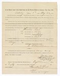 1886 May 22: Voucher, to Houston West, witness; includes cost of service as witness; S.A. Williams, deputy clerk; Stephen Wheeler, clerk; A.S. Vandeventer, chief deputy; John Carroll, U.S. marshal; Max A. Mayer, witness of signatures