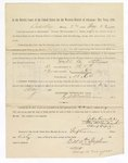 1886 May 22: Voucher, to Dill A. Stephens, witness; includes cost of service as witness; S.A. Williams, deputy clerk; Stephen Wheeler, clerk; A.S. Vandeventer, chief deputy; John Carroll, U.S. marshal; Max A. Mayer, witness of signature