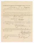 1886 May 22: Voucher, to Bart Moore, witness; includes cost of service as witness; S.A. Williams, deputy clerk; Stephen Wheeler, clerk; A.S. Vandeventer, chief deputy; John Carroll, U.S. marshal