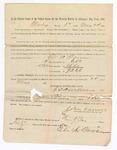 1886 May 22: Voucher, to Eli A. Warren, witness; includes cost of service as witness; S.A. Williams, deputy clerk; Stephen Wheeler, clerk; John Carroll, U.S. marshal; John Carroll, U.S. marshal