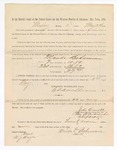 1886 May 24: Voucher, to Wanda Bohannon, witness; includes cost of service as witness; S.A. Williams, deputy clerk; Stephen Wheeler, clerk; A.S. Vandeventer, chief deputy; John Carroll, U.S. marshal; M.J. Mayer, witness of signatures