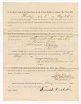 1886 May 24: Voucher, to Samuel Dorchester, witness; includes cost of service as witness; S.A. Williams, deputy clerk; Stephen Wheeler, clerk; A.S. Vandeventer, chief deputy; John Carroll, U.S. marshal; M.J. Mayer, witness of signatures
