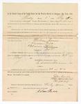 1886 May 24: Voucher, to Nelson Jones, witness; includes cost of service as witness; S.A. Williams, deputy clerk; Stephen Wheeler, clerk; A.S. Vandeventer, chief deputy; John Carroll, U.S. marshal; M.J. Mayer, witness of signatures