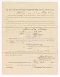 1886 May 24: Voucher, to Samuel A. Allen, witness; includes cost of service as witness; S.A. Williams, deputy clerk; Stephen Wheeler, clerk; A.S. Vandeventer, chief deputy; John Carroll, U.S. marshal