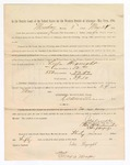 1886 May 24: Voucher, to Lulu Hignight, witness; includes cost of service as witness; S.A. Williams, deputy clerk; Stephen Wheeler, clerk; A.S. Vandeventer, chief deputy; John Carroll, U.S. marshal; Max A. Mayer, witness of signatures