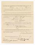 1886 May 24: Voucher, to Jane Wolf, witness; includes cost of service as witness; S.A. Williams, deputy clerk; Stephen Wheeler, clerk; A.S. Vandeventer, chief deputy; John Carroll, U.S. marshal; John Speaker, witness of signatures