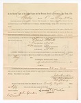 1886 May 24: Voucher, to Lewis White, witness; includes cost of service as witness; S.A. Williams, deputy clerk; Stephen Wheeler, clerk; A.S. Vandeventer, chief deputy; John Carroll, U.S. marshal; John Speaker, witness of signatures