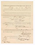 1886 May 24: Voucher, to Picey Patridge, witness; includes cost of service as witness; S.A. Williams, deputy clerk; Stephen Wheeler, clerk; A.S. Vandeventer, chief deputy; John Carroll, U.S. marshal; Ben Wolf, witness of signatures