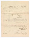 1886 May 24: Voucher, to Bruce Quigley, witness; includes cost of service as witness; S.A. Williams, deputy clerk; Stephen Wheeler, clerk; A.S. Vandeventer, chief deputy; John Carroll, U.S. marshal