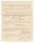 1886 May 24: Voucher, to Lewis Childers, witness; includes cost of service as witness; S.A. Williams, deputy clerk; Stephen Wheeler, clerk; A.S. Vandeventer, chief deputy; John Carroll, U.S. marshal; Max A. Mayer, witness of signatures