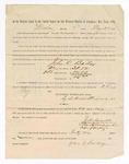 1886 May 24: Voucher, to John C. Bailey, witness; includes cost of service as witness; S.A. Williams, deputy clerk; Stephen Wheeler, clerk; A.S. Vandeventer, chief deputy; John Carroll, U.S. marshal