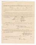 1886 May 24: Voucher, to Thomas Flynn, witness; includes cost of service as witness; S.A. Williams, deputy clerk; Stephen Wheeler, clerk; A.S. Vandeventer, chief deputy; John Carroll, U.S. marshal