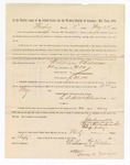 1886 May 24: Voucher, to William Childers, witness; includes cost of service as witness; S.A. Williams, deputy clerk; Stephen Wheeler, clerk; A.S. Vandeventer, chief deputy; John Carroll, U.S. marshal; Max A. Mayer, witness of signatures