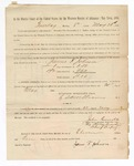1886 May 25: Voucher, to James Johnson, witness; includes cost of service as witness; S.A. Williams, deputy clerk; Stephen Wheeler, clerk; A.S. Vandeventer, chief deputy; John Carroll, U.S. marshal